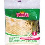 Салфетка универсальная «Guten Tag» бамбуковое волокно 30х34 см, 3 шт.