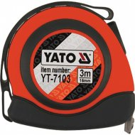 Рулетка «Yato» 16 мм х 3 м, с магнитом.