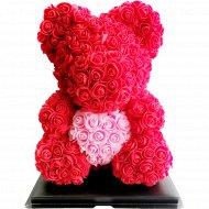 Сувенир «Rose Bear» красный + розовый, 40 см.