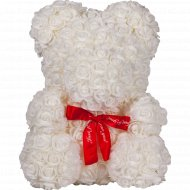 Сувенир «Teddy Rose Bear» белый, 40 см.