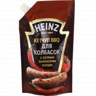 Кетчуп BBQ для колбасок «Heinz» с острым кайенским перцем, 350 г.