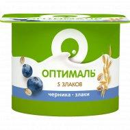 Йогурт «Оптималь» черника-злаки, 2%, 120 г.