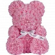 Сувенир «Teddy Rose Bear» розовый, 40 см.
