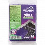 Салфетка фибра «Vilardi» Super Grill, 3 шт.