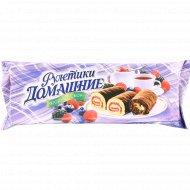 Мини-рулеты «Домашние» ягодный сбор, 150 г.