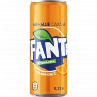 Напиток «Fanta» вкус апельсина 0.33 л.