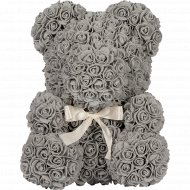 Сувенир «Teddy Rose Bear» серый, 40 см.