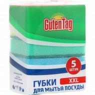 Губки для мытья посуды «Guten Tag» универсальная, XXL 5 шт.