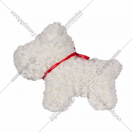 Сувенир «Rose Dog» белый, 40 см.
