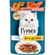 Корм для кошек «Gourmet» желе-де-люкс, лосось, 75 г