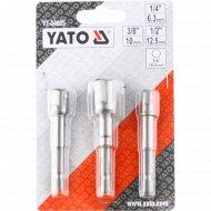 Набор адаптеров «Yato» для торцевых головок-1/4, 3/8, 1/2.