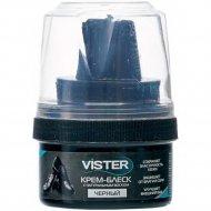 Крем для обуви «Vister» для гладкой кожи, черный, 50 мл.