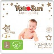 Подгузники «YokoSun» Premium, размер L, 9-13 кг, 54 шт