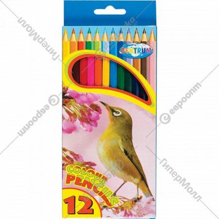 Карандаши цветные «Zoo» 12 цветов