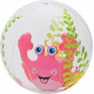 Мяч пляжный надувной пластмассовый детский, 61 см.