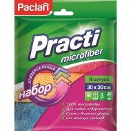 Салфетки из микрофибры «Paclan practi» 30х30 см, 4 шт.