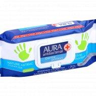 Салфетки влажные «Aura» антибактериальные, с ромашкой, 72 шт.
