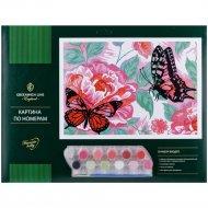 Картина по номерам «Бабочки» A3, картон.