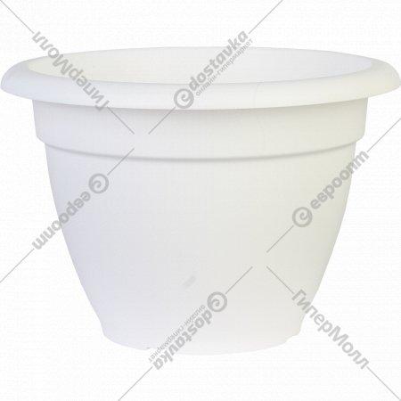 Цветочный горшок «Optimplast» 350 мм, белый, 12 л.