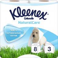 Туалетная бумага «Kleenex» Cottonelle Natural Care, 8 шт
