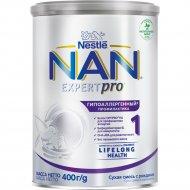 Смесь сухая молочная «NAN 1» гипоаллергенная, с рождения, 400 г.