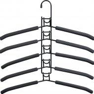 Вешалка-плечики для одежды «Bradex» Гинго, 5 в 1, TD 0722, черный