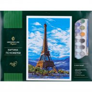 Картина по номерам «Париж» A3, картон.