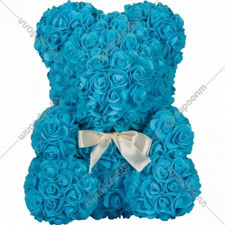 Сувенир «Rose Bear» светло-синий, 40 см.
