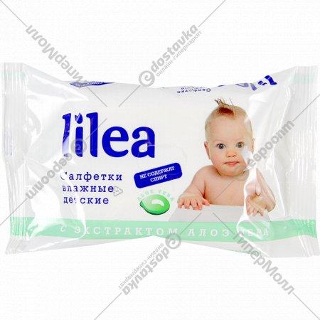 Салфетки влажные детские «Lilea» алоэ вера, 72 шт.