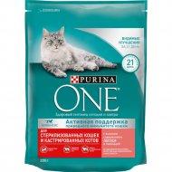 Корм сухой для кошек «Purina One» c лососем и пшеницей, 200 г
