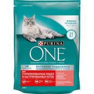 Корм сухой для кошек «Purina One» c лососем и пшеницей, 200 г.