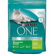Корм сухой для кошек «Purina One» с индейкой и цельными злаками 200 г.
