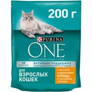 Корм для взрослых кошек «Purina One» с курицей и цельными злаками, 200 г.
