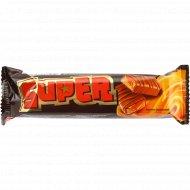 Батончик «Super» с нугой и мягкой карамелью, покрытый глазурью, 40 г.
