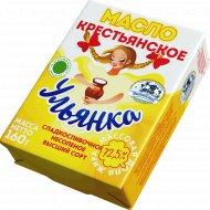Масло сладкосливочное «Ульянка» крестьянское, 72.5%, 160 г.