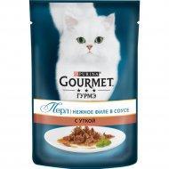 Корм для кошек «Gourmet» в подливе c уткой, 85 г.