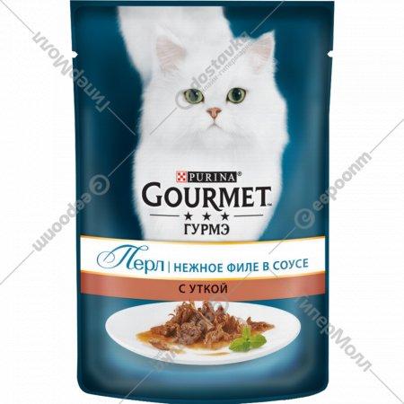 Корм для кошек «Gourmet» в подливе c уткой, 85 г