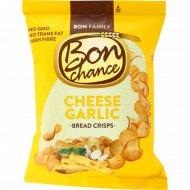 Хлебные чипсы «Bon chance» с чесноком и сыром, 60 г.