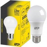 Светодиодная лампа A60, 12W, E27, 4000K.