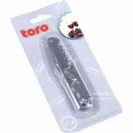 Открывалка «Toro» металлическая со штопором, 11 см.