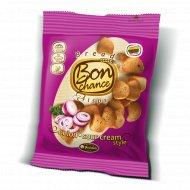 Хлебные чипсы «Bon chance» лук и сметана, 60 г.