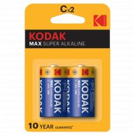Элемент питания «Kodak» MAX LR14, C, алкалиновый, 2 шт.