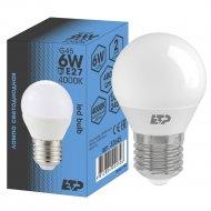 Лампа светодиодная «ETP» G45 6W E27 4000K.
