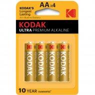Элемент питания «Kodak» Ultra Premium LR6, AA, алкалиновый, 4 шт.