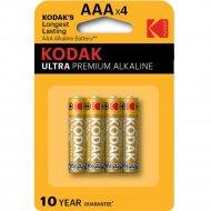 Элемент питания «Kodak» Ultra Premium LR03, AAA, алкалиновый, 4 шт.