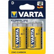 Элемент питания «VARTA» Superlife R20, D, солевой, 2 шт.