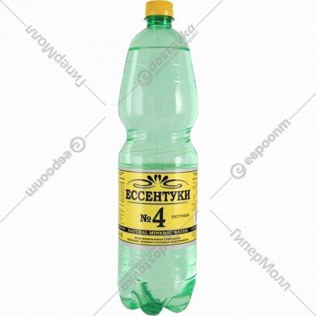 Вода минеральная, газированная «Ессентуки №4» 1.5 л.