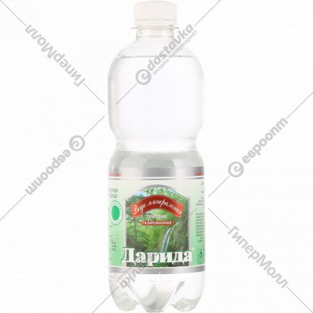 Вода минеральная «Дарида» газированная, 0.5 л.