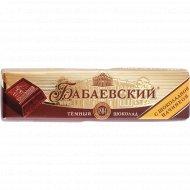 Шоколад темный «Бабаевский» с шоколадной начинкой, 50 г.