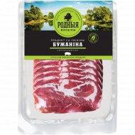 Продукт из свинины мясной «Бужанина» сырокопченый, 100 г.